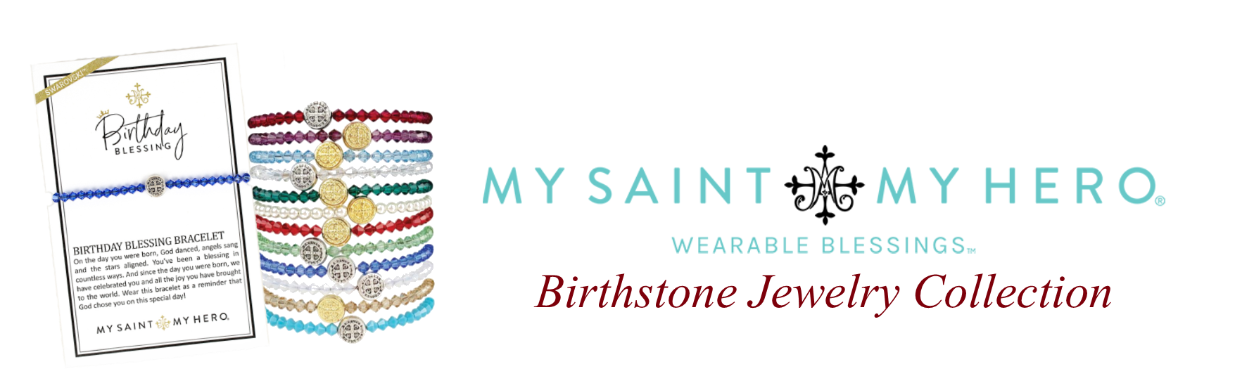 My Saint My Hero Birthstone Jewelry