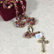 Murano Glass Rosary Burgundy