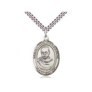 """St Maximilian Kolbe 24"""" Large Saint Medal"""