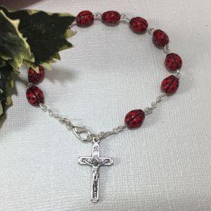 Ladybug Rosary Bracelet