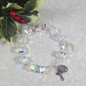 Swarovski Crystal Cube Rosary Bracelet