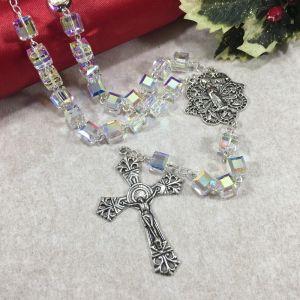 Swarovski Crystal Cube Rosary
