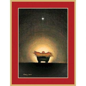 Star and Creche Christmas Card