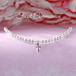 "First Communion 16"" Pearl Necklace"
