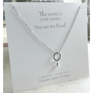 The World is Your Oyster Circle Necklace