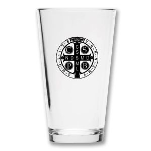 St Benedict Cross Pint Glass