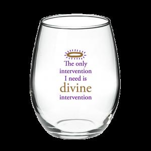 Divine Intervention Stemless Wine Glass