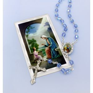 St Anne Rosary & Prayer Card