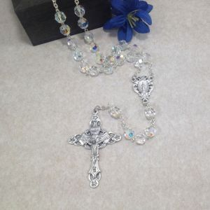 8mm Finest Czech Glass Rosary