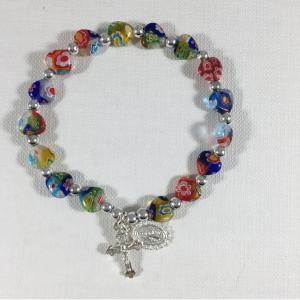 ACM121 Murano Heart Stretch Bracelet