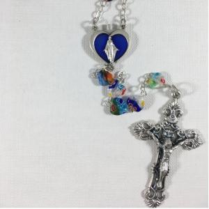 ACM120 Murano Heart Rosary