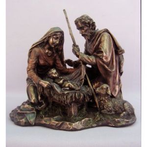Bronze Nativity 9""