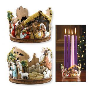 "4"" Nativity Candleholder"