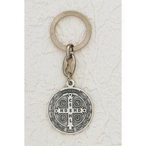 St Benedict Round Key Chain