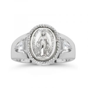 Sterling Miraculous Medal Ring