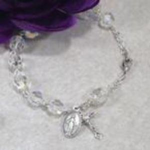 8mm Crystal Czech Glass Rosary Bracelet