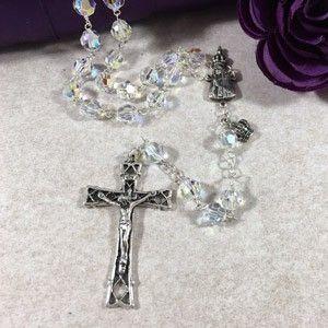 8mm OL Fatima SS Swarovski Rosary