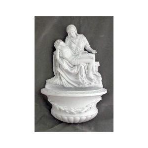"White Pieta Holy Water Font 10"""