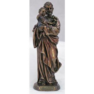 "St. Joseph w/Child 8"" Statue"