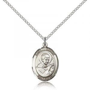 St. Robert Sterling Medal Necklace 24''