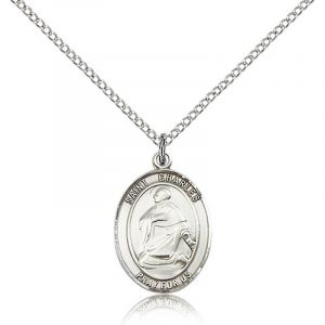 St.Charles Sterling Medal Necklace 24''