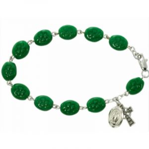 Shamrock Rosary Bracelet
