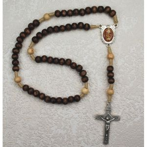 Brown Shroud of Turin Rosary