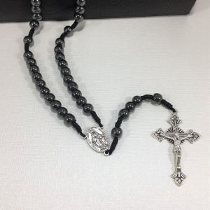 Miraculous Medal Hematite Rosary