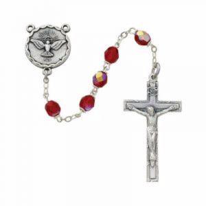 Red Holy Spirit Rosary