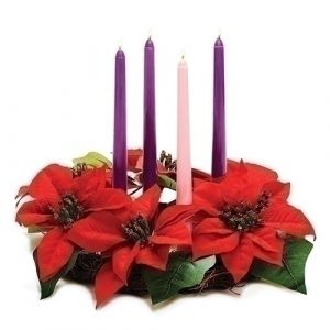 Poinsettia Advent Wreath