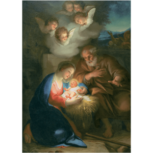 The Holy Night by Mengs Christmas Card