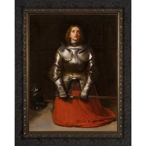 St. Joan of Arc by John Millais 12x16 Dark Frame