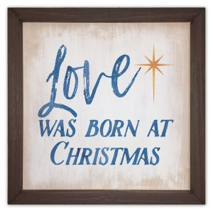 Love was Born at Christmas Wood Plaque