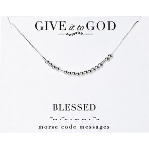 Blessed Morse Code Sterling Necklace
