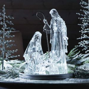 ACM103 Holy Family with Lighted Base