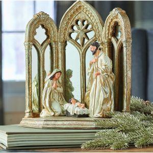 ACM106 Mirror Creche Holy Family