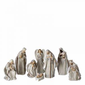 8 pc Grey Wood-Look Nativity