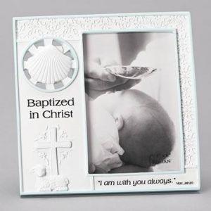Boy's Baptism Frame 7x7