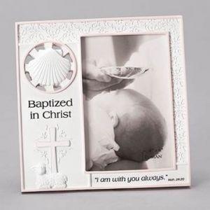 Girl's Baptism Frame 7x7