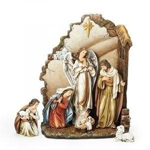"""ACM160 Nativity 7 pc Set w/ Angel 13"""""""