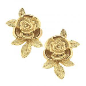 Rose Bud Handcast Earrings