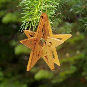 840 Olivewood Star Ornament