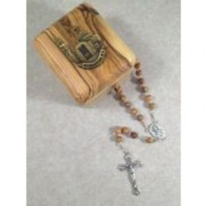 National Shrine Olive Wood Rosary and Box