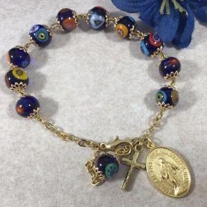 ACM21 Venetian Glass & Gold Bracelet