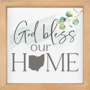 755 God Bless Our Home Wall Plaque - State