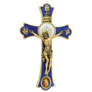 "8"" Holy Mass Crucifix Divine Mercy Color"