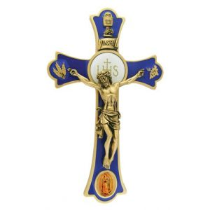 "8"" Holy Mass Crucifix Guadalupe Color"