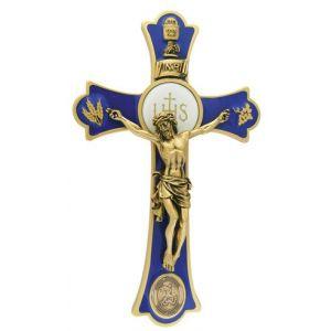 """8"""" Holy Mass Crucifix St. Michael Gold"""