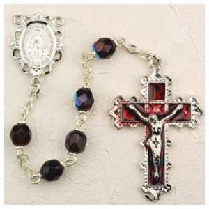 Birthstone Enamel Miraculous Rosary (More Colors)