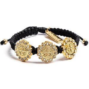 ACM6 St. Benedict Brilliance Trinity Gold Bracelet